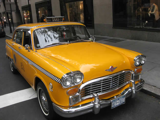 New York taxi 1970